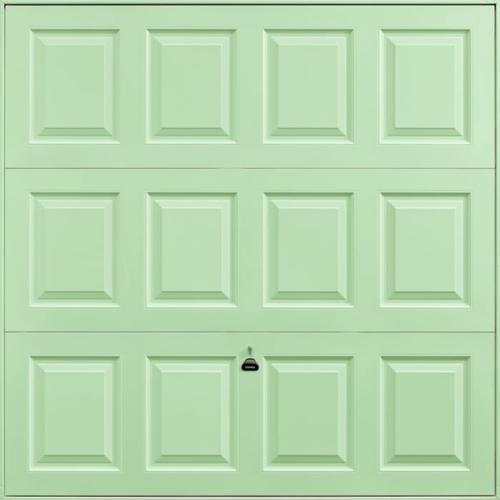 Georgian Pastel Green Garage Door
