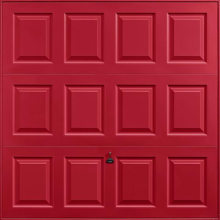 Georgian Ruby Red Garage Door
