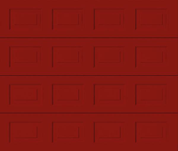 Georgian Ruby Red Sectional Garage Door