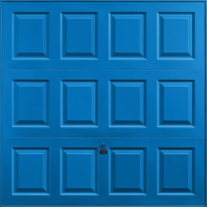 Georgian Signal Blue Garage Door