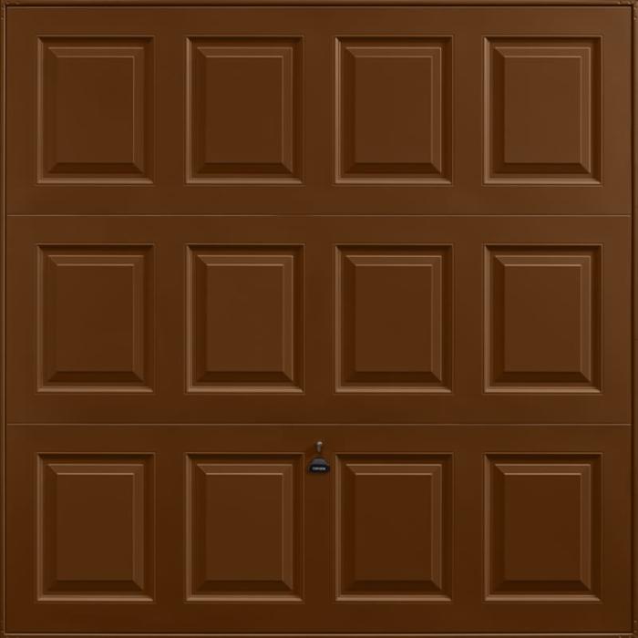 Georgian Terra Brown Garage Door