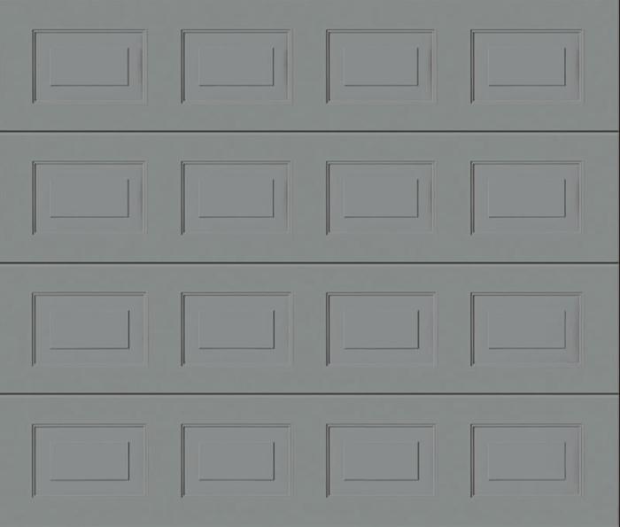 Georgian White Aluminium Sectional Garage Door