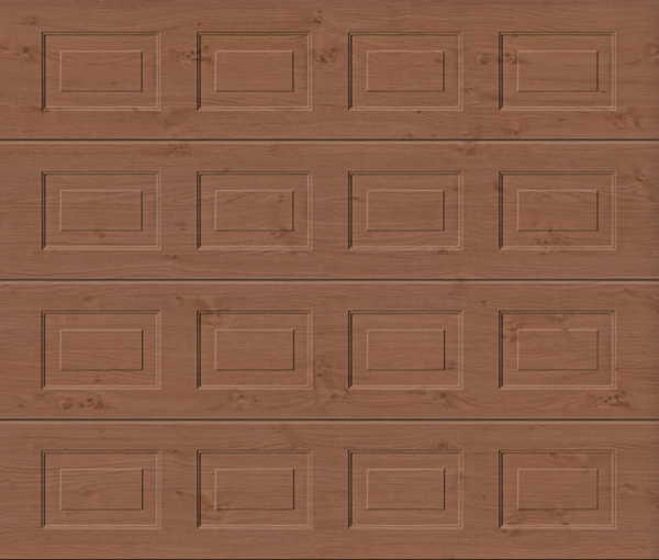 Georgian Winchester Oak Sectional Garage Door