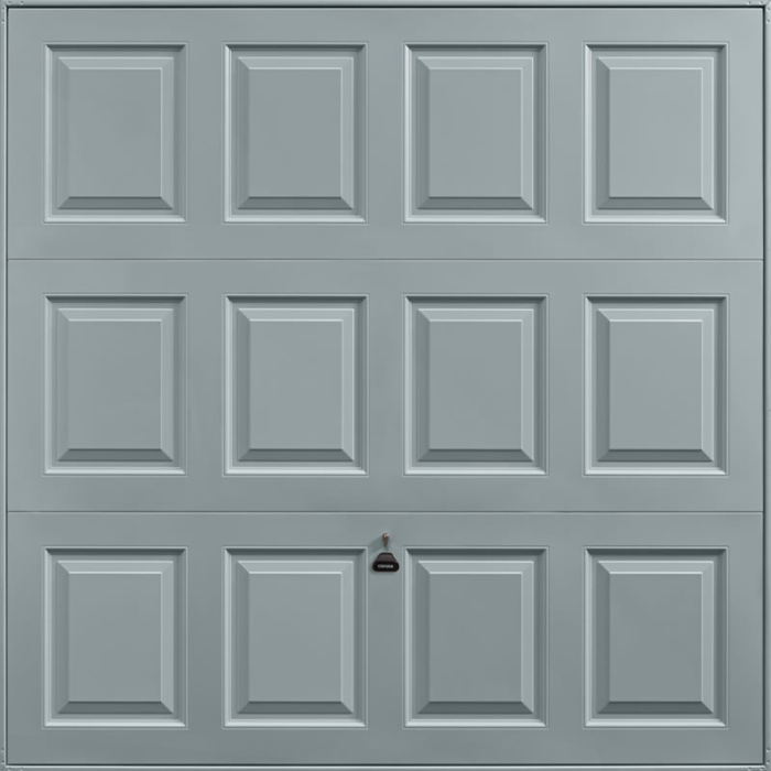 Georgian Window Grey Garage Door