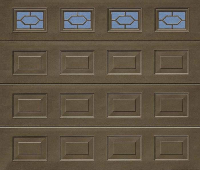 Georgian Windows Terra Brown Sectional Garage Door