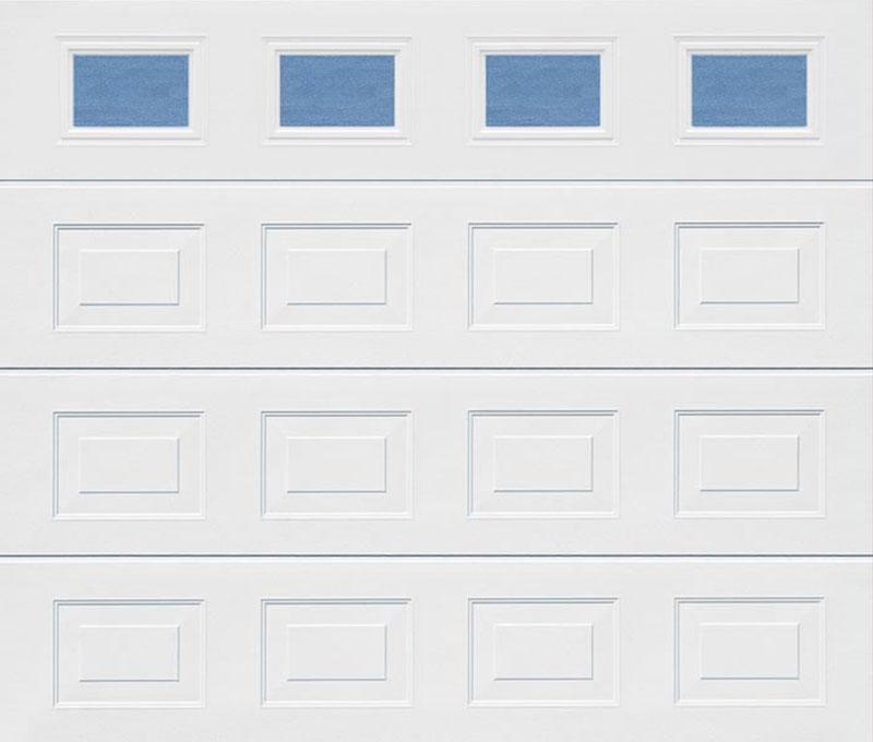 Georgian Windows White Sectional Garage Door