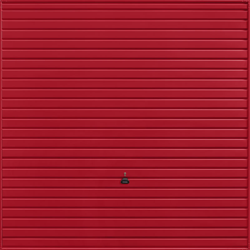 Horizon Ruby Red Garage Door