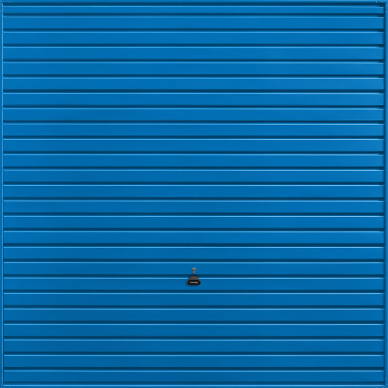 Horizon Signal Blue Garage Door