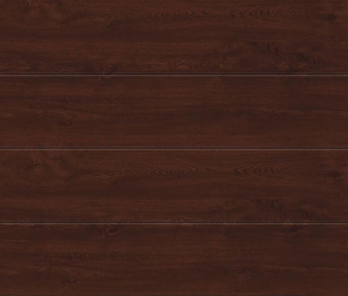 Linea Large Dark Oak Sectional Garage Door
