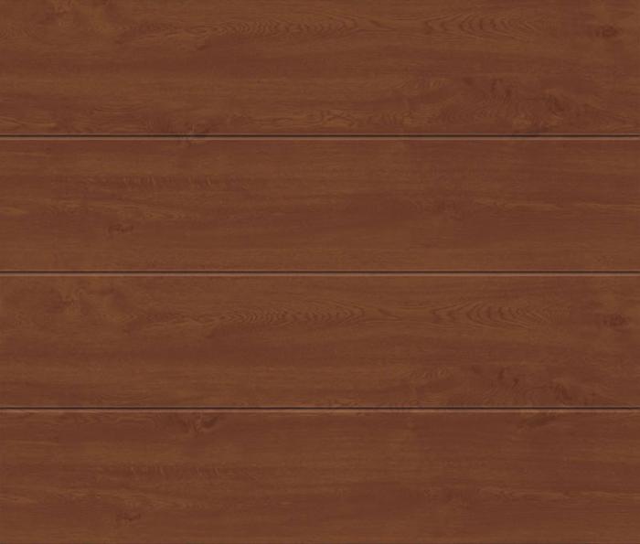 Linea Large Golden Oak Sectional Garage Door