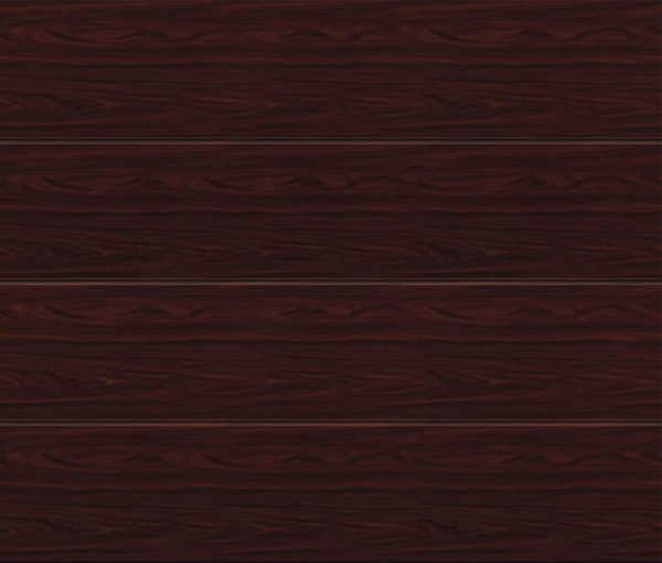 Linea Large Rosewood Sectional Garage Door