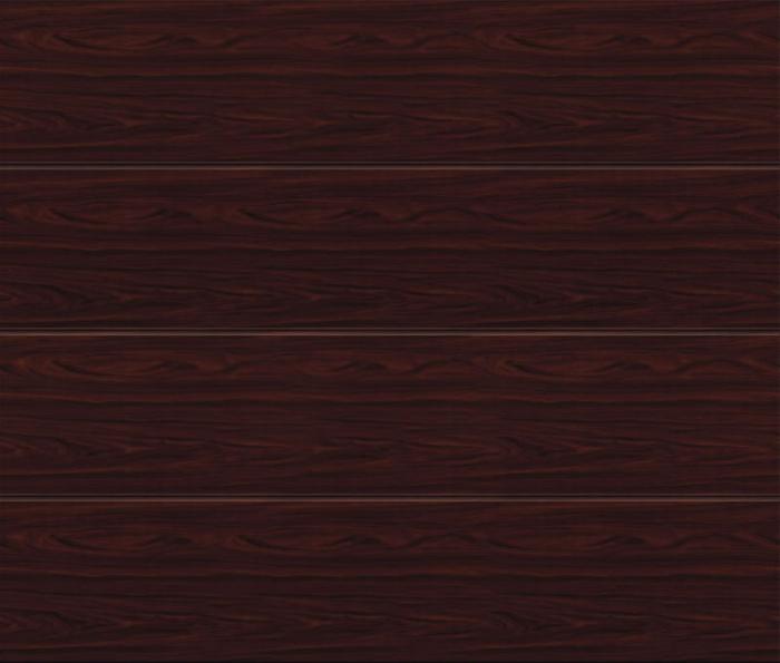 Linea Large Rosewood Sectional Garage Door