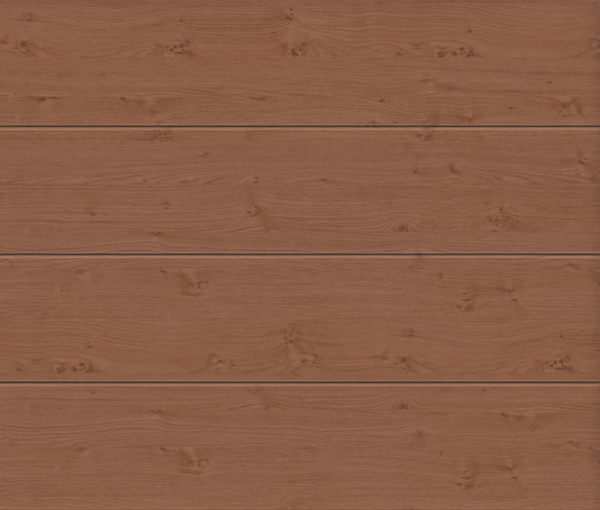 Linea Large Winchester Oak Sectional Garage Door