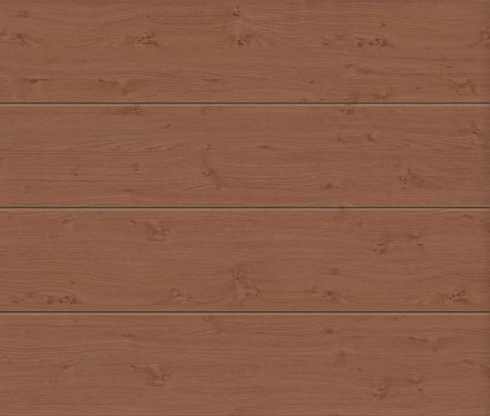 Linea Large Winchester Oak Sectional Garage Door