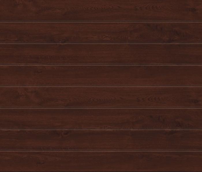 Linea Medium Dark Oak Sectional Garage Door
