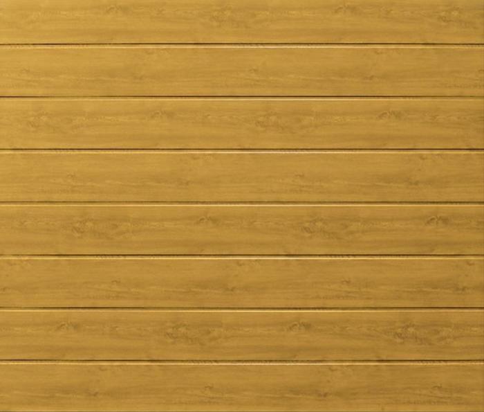 Linea Medium Light Oak Sectional Garage Door