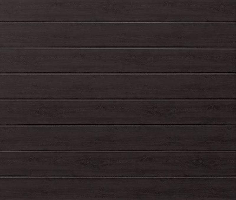 Linea Medium Night Oak Sectional Garage Door