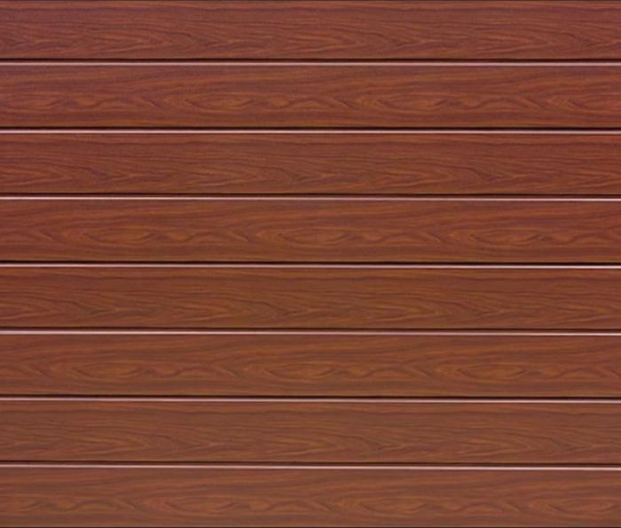 Linea Medium Rosewood Sectional Garage Door