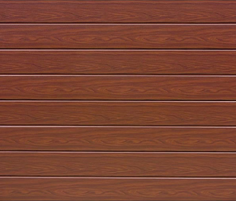 Linea Medium Rosewood Sectional Garage Door