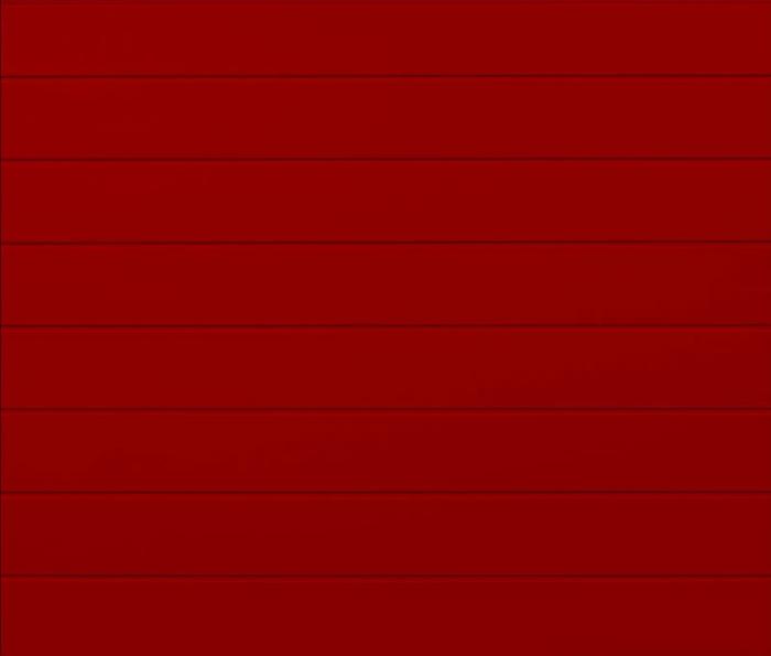 Linea Medium Ruby Red Sectional Garage Door