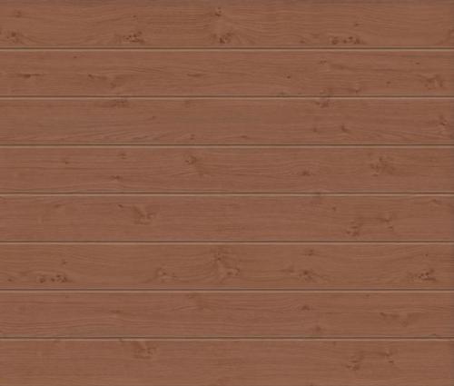 Linea Medium Winchester Oak Sectional Garage Door