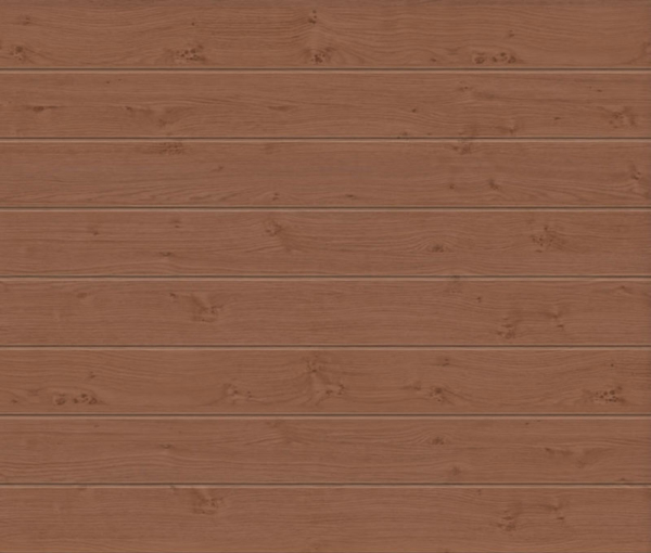 Linea Medium Winchester Oak Sectional Garage Door