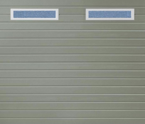 Linea Small Windows Stone Grey Sectional Garage Door