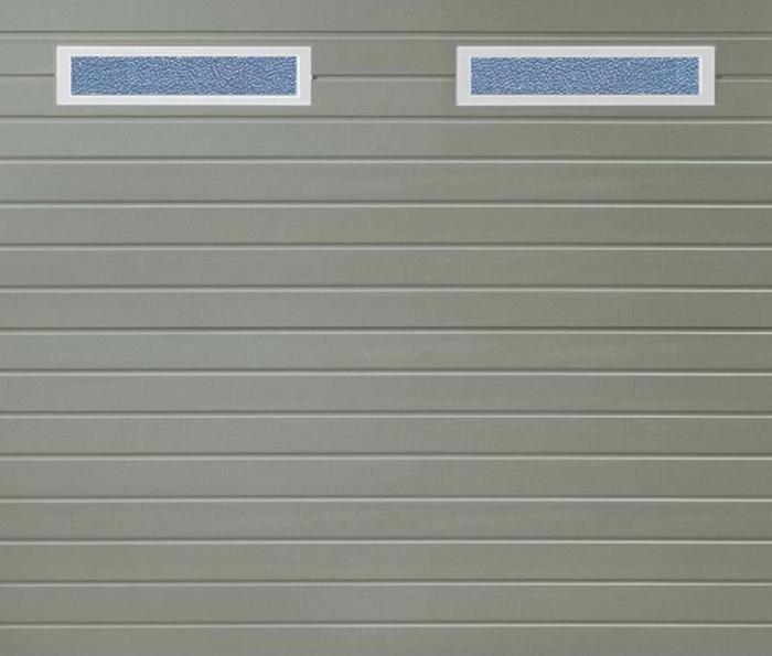 Linea Small Windows Stone Grey Sectional Garage Door