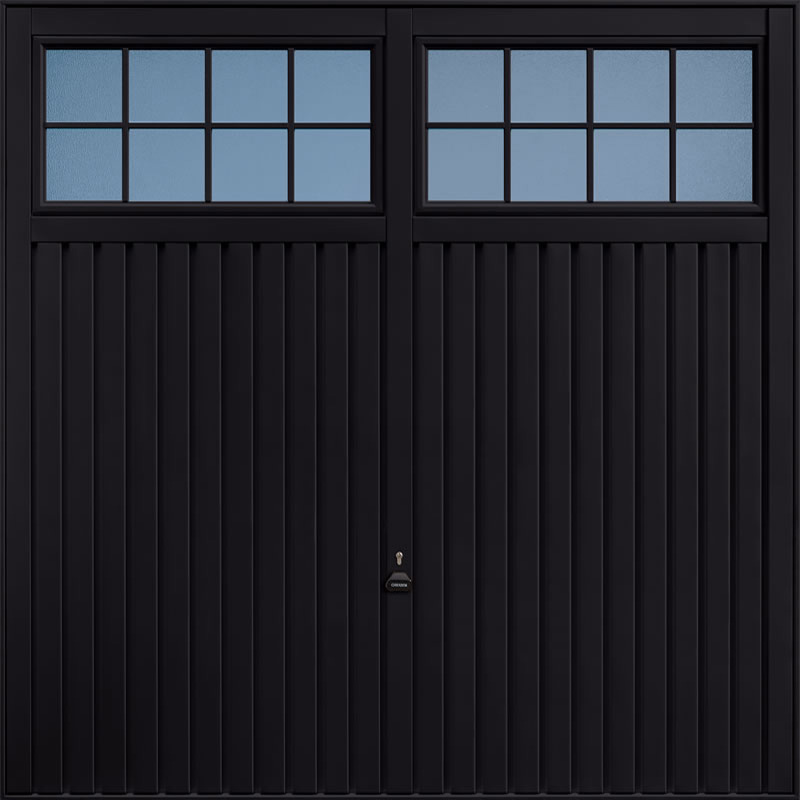 Salisbury Jet Black Garage Door