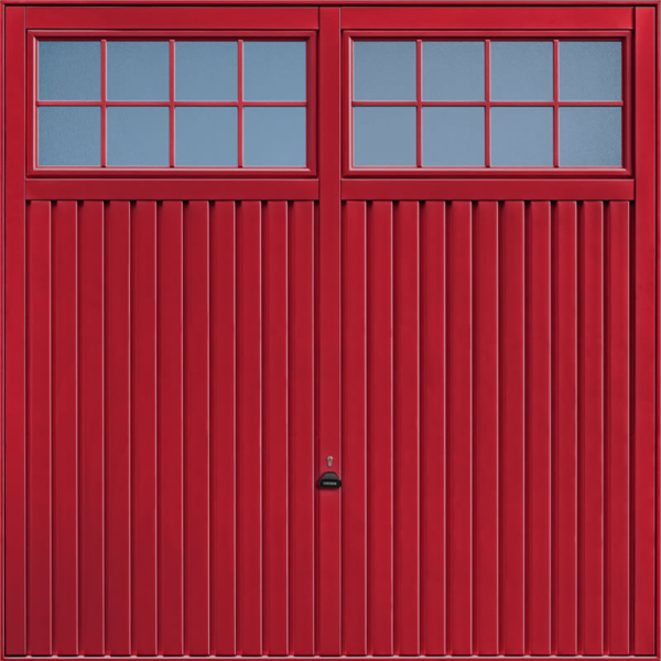 Salisbury Ruby Red Garage Door