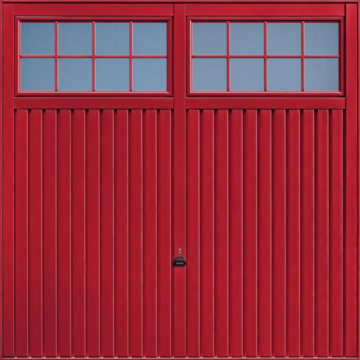 Salisbury Ruby Red Garage Door