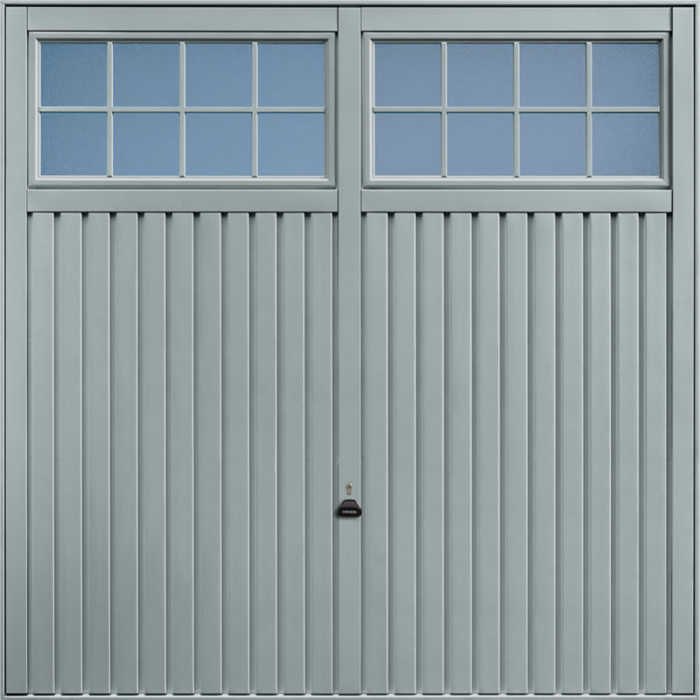 Salisbury Window Grey Garage Door
