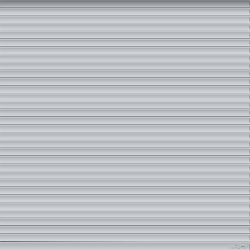 Silver Roller Garage Door