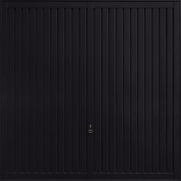 Sutton Jet Black Garage Door