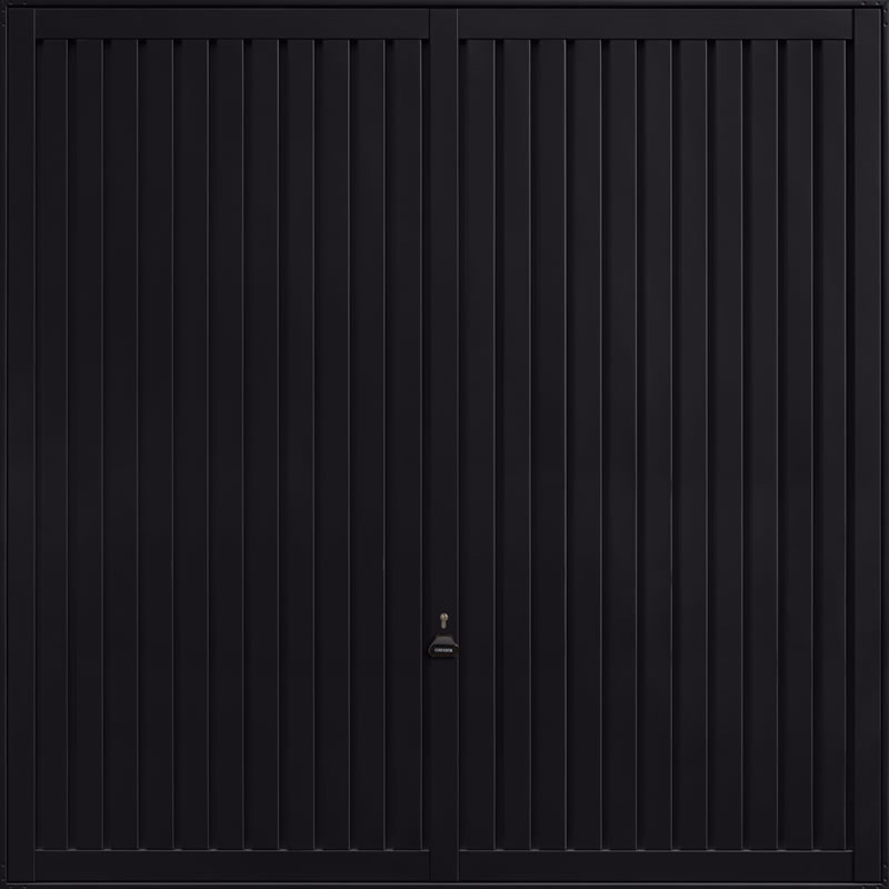 Sutton Jet Black Garage Door
