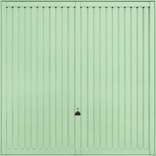 Sutton Pastel Green Garage Door