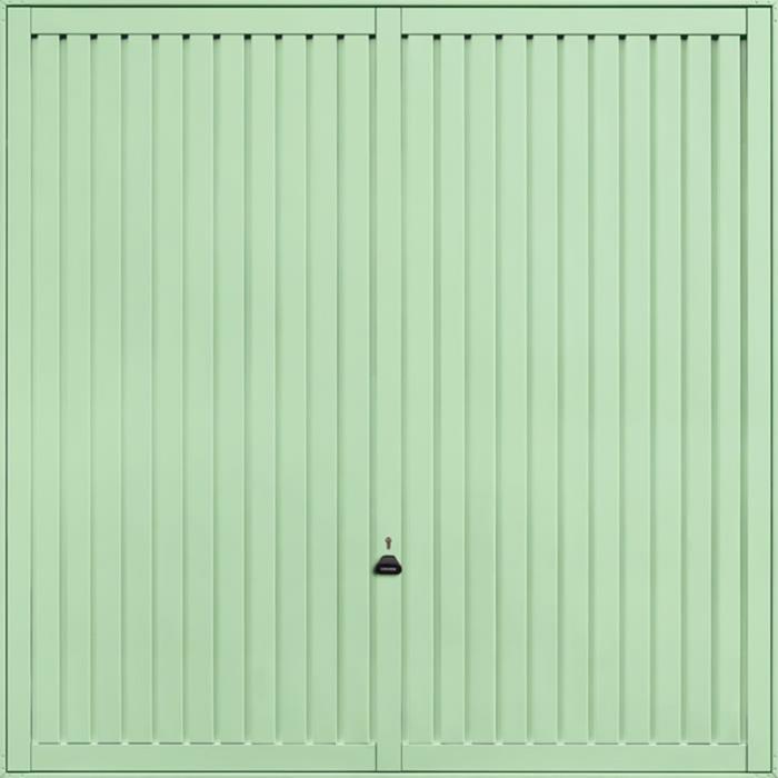 Sutton Pastel Green Garage Door