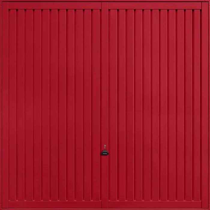 Sutton Ruby Red Garage Door