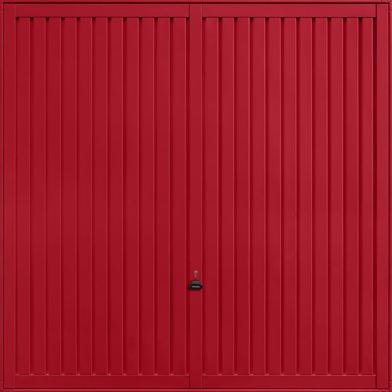 Sutton Ruby Red Garage Door