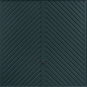 Chevron Anthracite Grey Garage Door