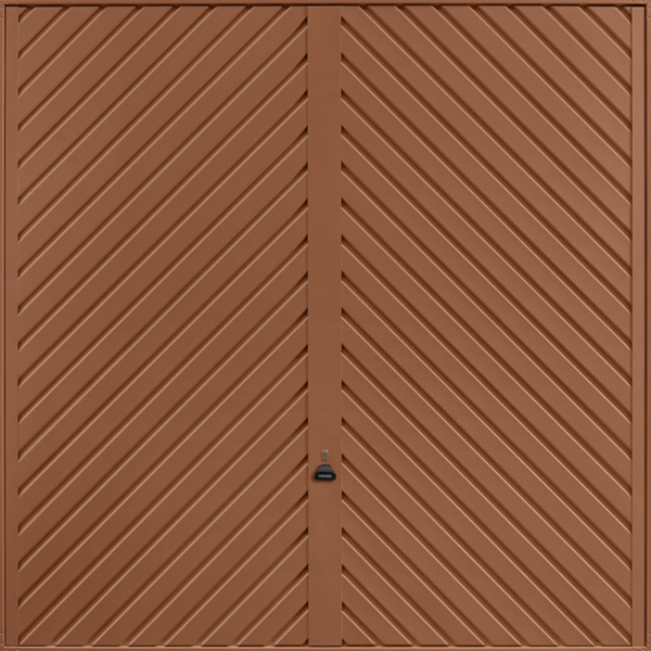 Chevron Clay Brown Garage Door