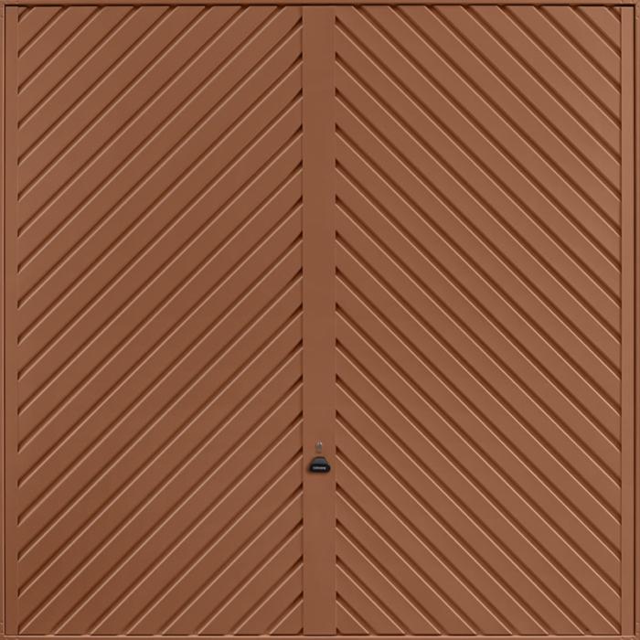Chevron Clay Brown Garage Door
