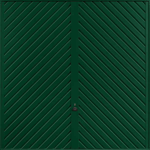 Chevron Fir Green Garage Door