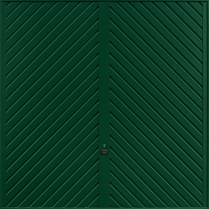 Chevron Fir Green Garage Door