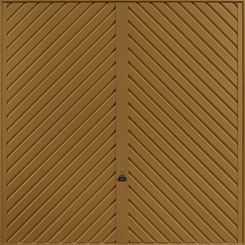 Chevron Golden Oak Garage Door
