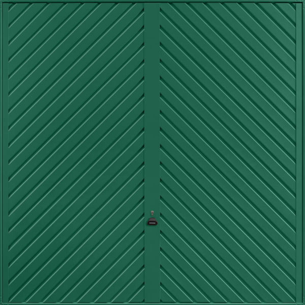 Chevron Moss Green Garage Door