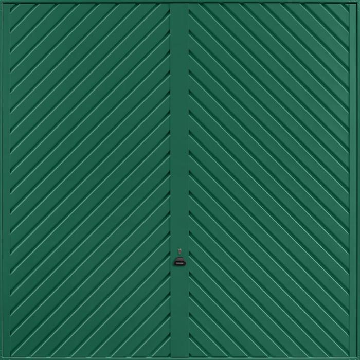 Chevron Moss Green Garage Door