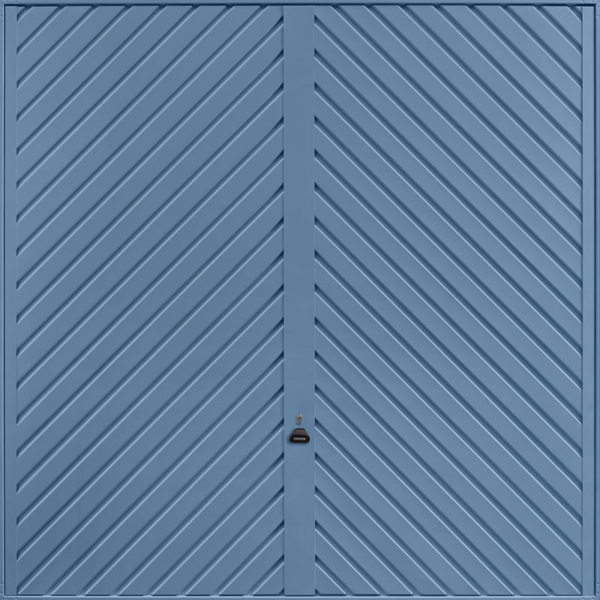 Chevron Pigeon Blue Garage Door