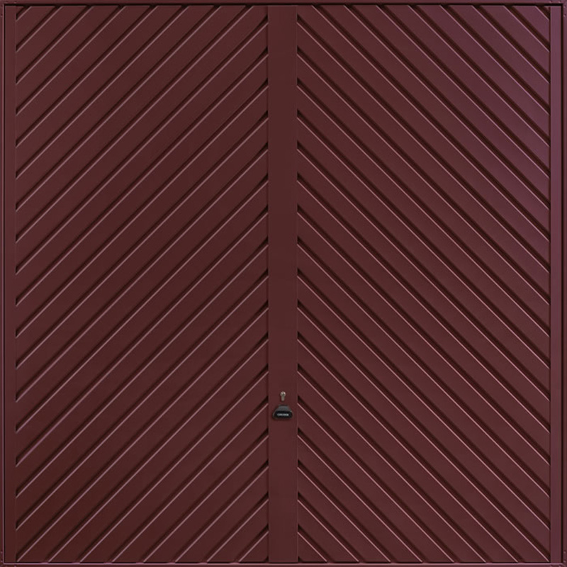 Chevron Rosewood Garage Door