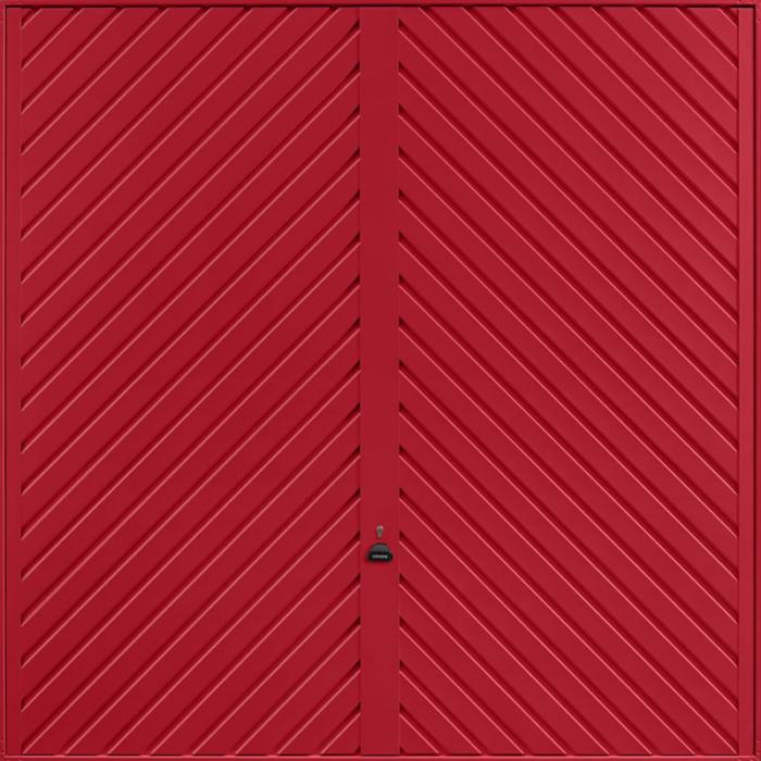 Chevron Ruby Red Garage Door